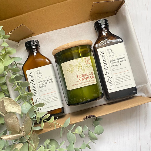 Rejuvenating Cleanser & Lotion and ECO Candle