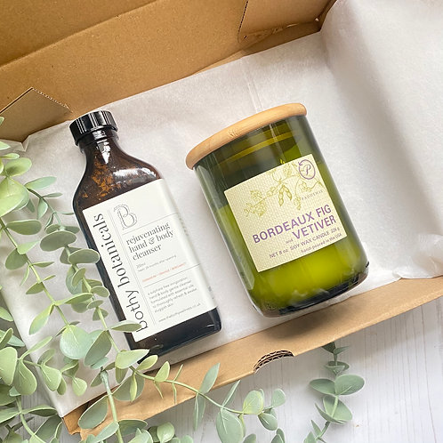 Rejuvenating Hand & Body Cleanser and ECO Candle