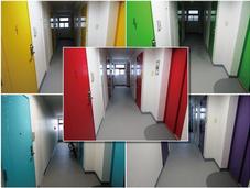マンション各階ドア塗装工事