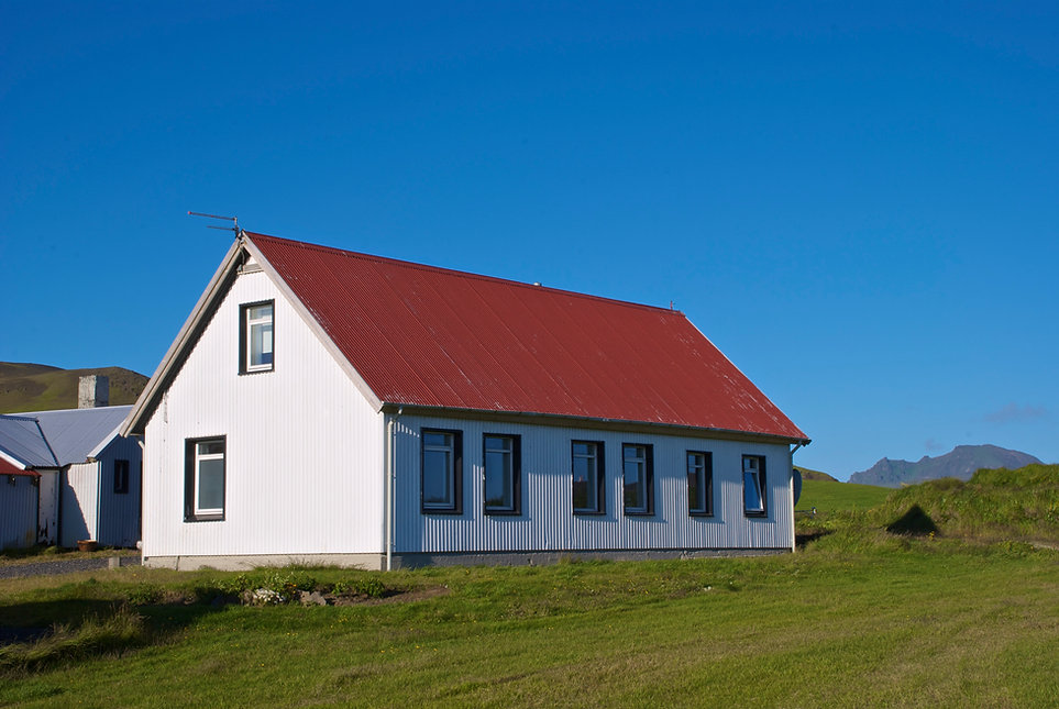 Bed and Breakfast, our guesthouse is located on a farm in the countryside, close to Vík