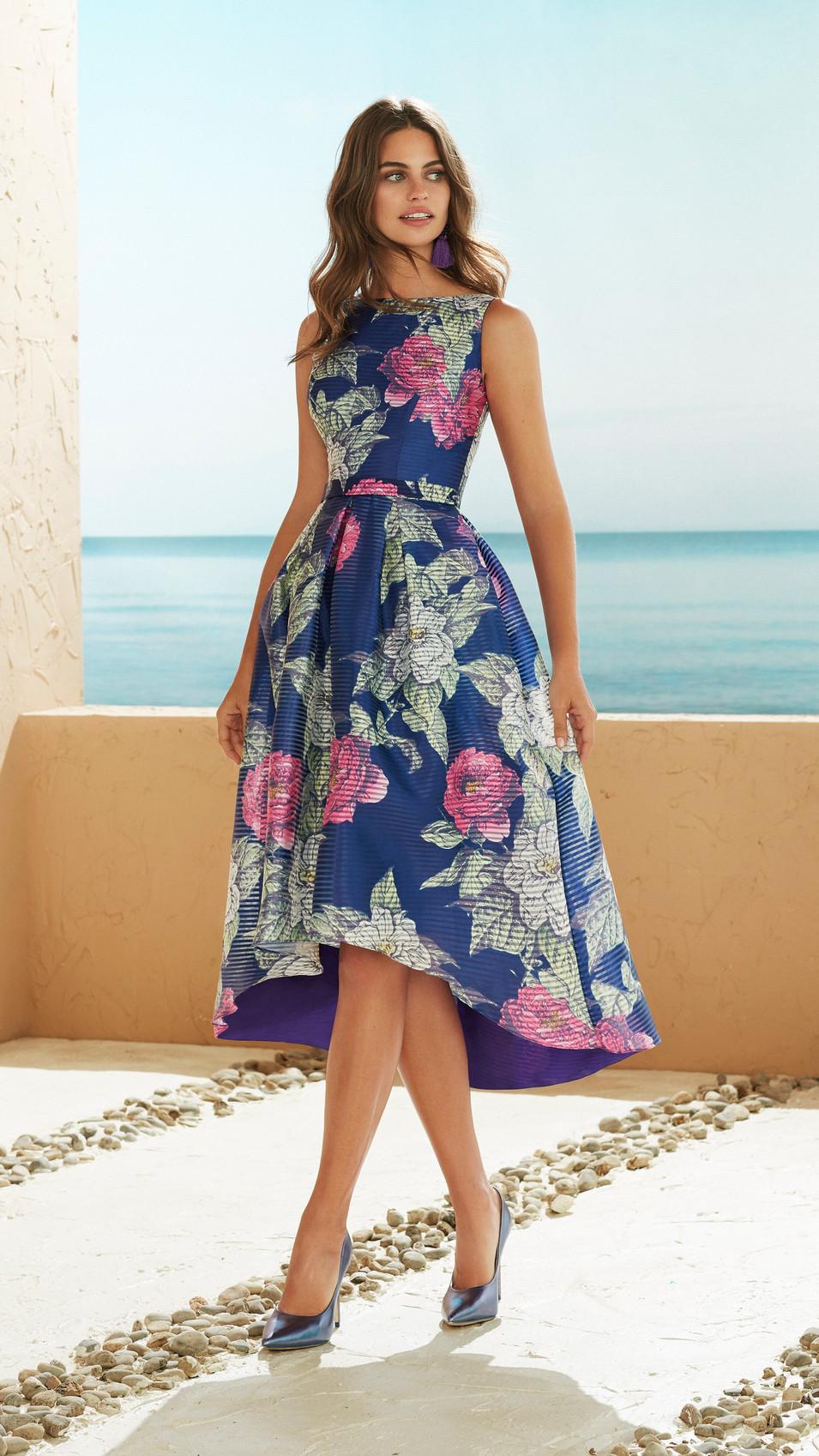Dip Hem Floral Dress