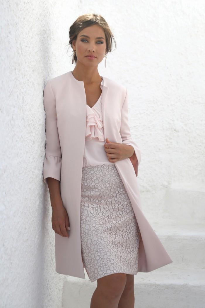 Pink Dress and Longline Jacket