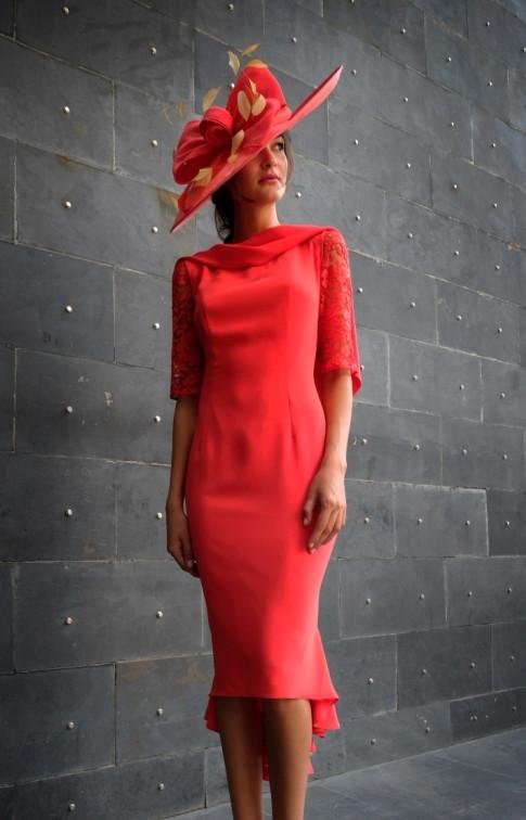 Red Kickflare Dress