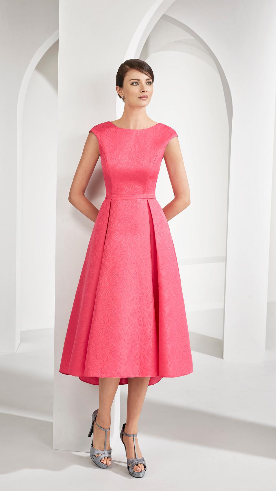 Pink Midi Jacquard Dress and Jacket