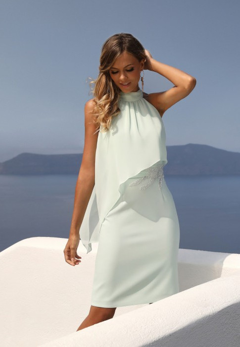Mint Green Halterneck Dress