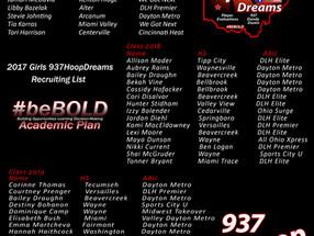 2017 Girls 937HoopDreams Recruiting List