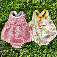 Baby rompers in the making for Spring 20