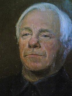Мужской портрет маслом. Фрагмент