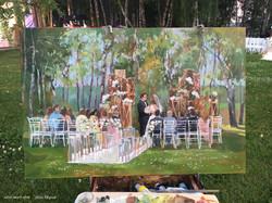 """Картина маслом """"Свадебная церемония"""""""