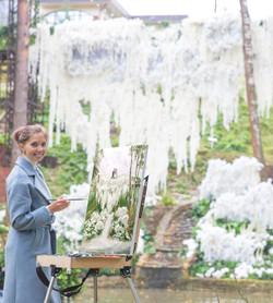 Live wedding painter Maria Abol