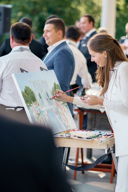 Live wedding painter Maria Abol