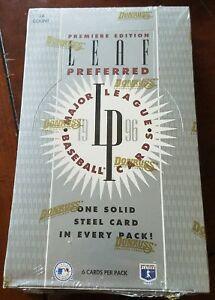 1996 Leaf Preferred Baseball Box