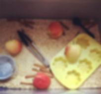 "The ""fresh apple pie"" sensory bin with r"