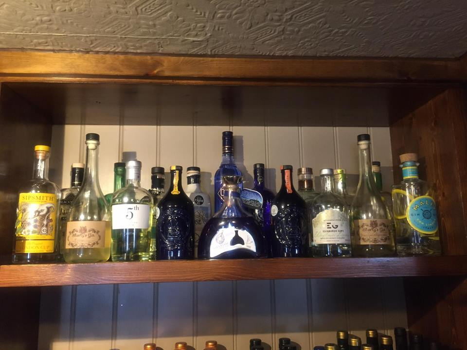 One of our Gin shelves.