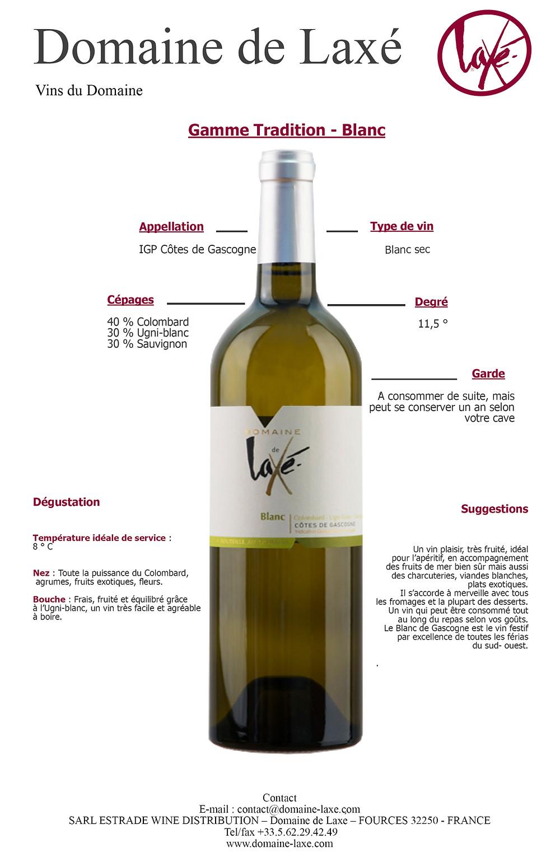 Côtes de Gascogne blanc-Domaine de Laxé