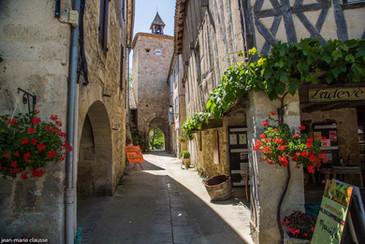 The town of Fourcès
