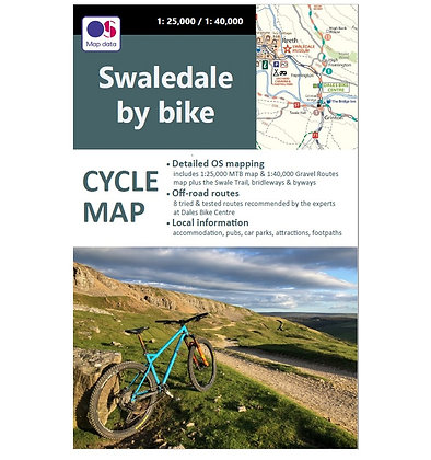 Swaledale by Bike - Cycle Map   1: 25,000  & 1: 40.000