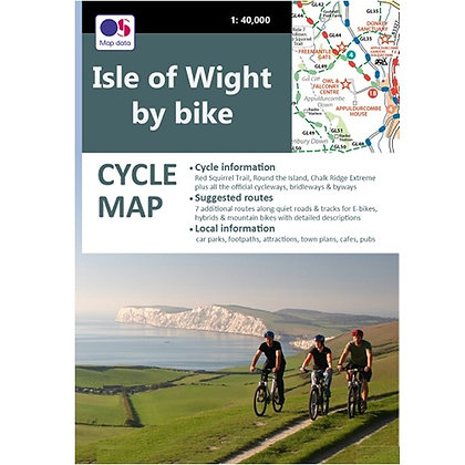 Isle of Wight by Bike - Cycle Map     1: 40,000