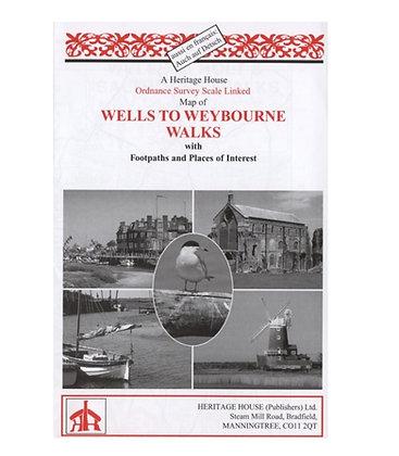Wells to Weybourne Walks | Walking Map | 1: 38,000