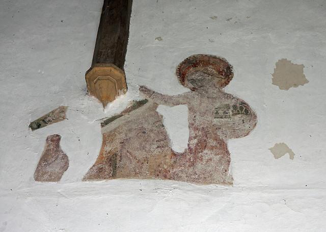 Wall painting, Haddiscoe Church_David