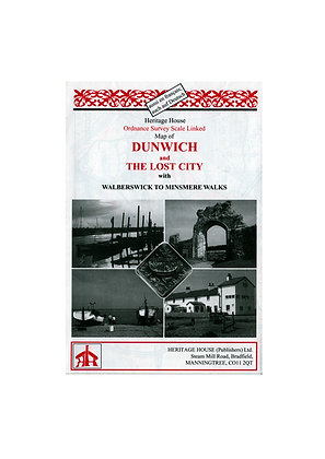 Dunwich & The Lost City with Walberswick to Minsmere Walks | 1: 25,000
