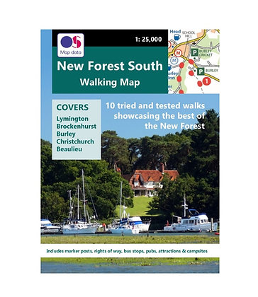 New Forest South Walking Map | 1: 25,000