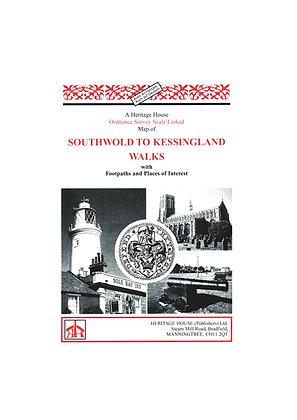 Southwold to Kessingland Walks | Walking Map | 1: 30,000