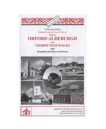 Orford, Aldeburgh & Thorpeness Walks | Walking Map | 1: 38,000