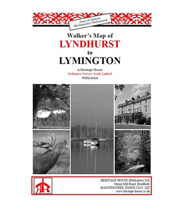 Lyndhurst to Lymington Walks | Walking Map | 1: 38,000