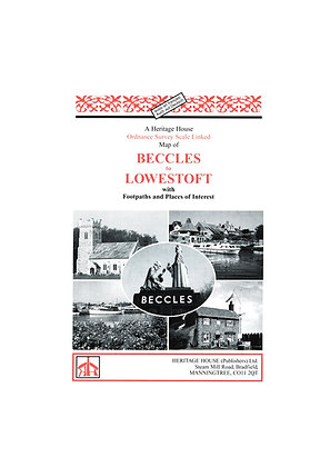 Beccles to Lowestoft | Walking Map | 1:38,000