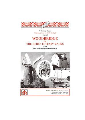 Woodbridge & The Deben Estuary Walks | Walking Map | 1: 36,000