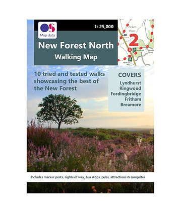 New Forest North Walking Map | 1: 25,000