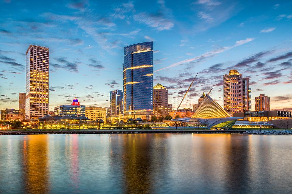Milwaukee, Wisconsin, USA downtown city
