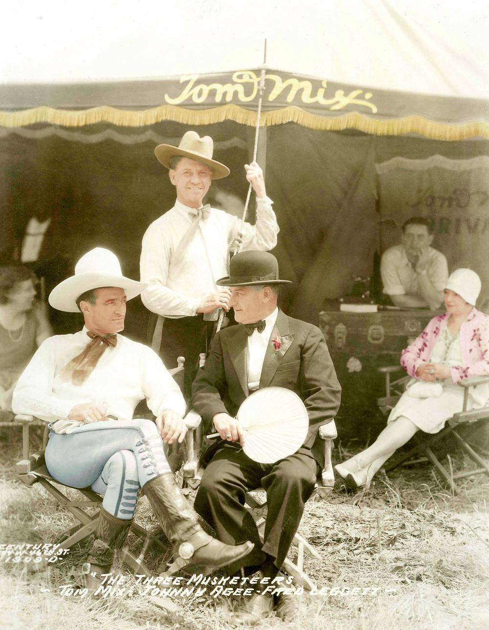 Tom Mix, Johnny Agee, Fred Leggett, Sells-Floto Circus