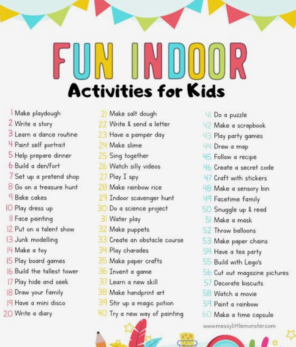 Activities for Kids Indoors