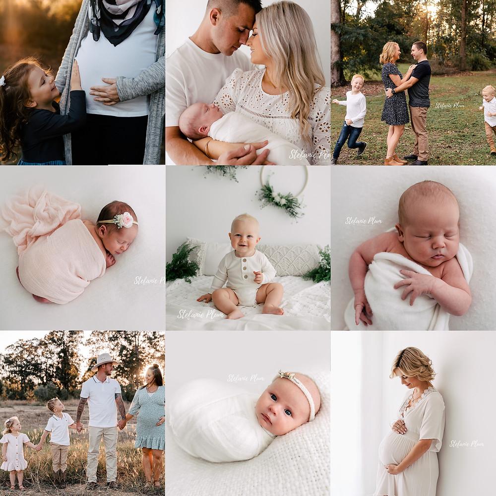 Baby Photography Brisbane photo collage