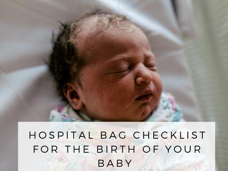 Hospital Bag Check List - Newborn Photography Brisbane