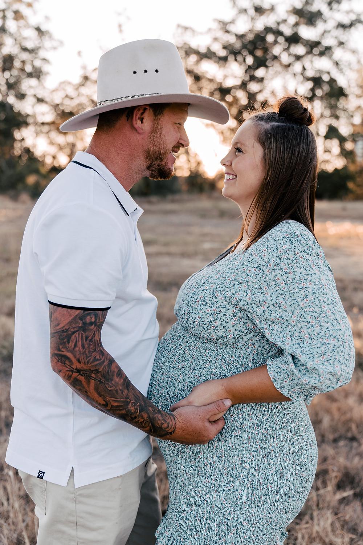Cowboy maternity photo