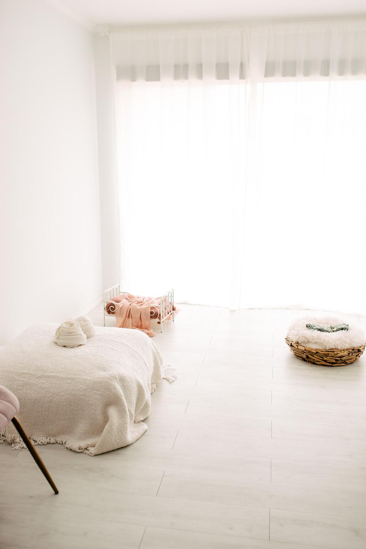 Natural light newborn photography studio