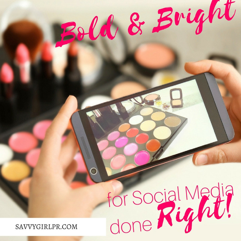 Social Media Bold and Bright Photographybyfrom Savvy Girl PR | Public Relations and Social Media Management