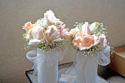 romantic rose vintage centerpieces