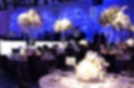 Glam wedding reception lighting