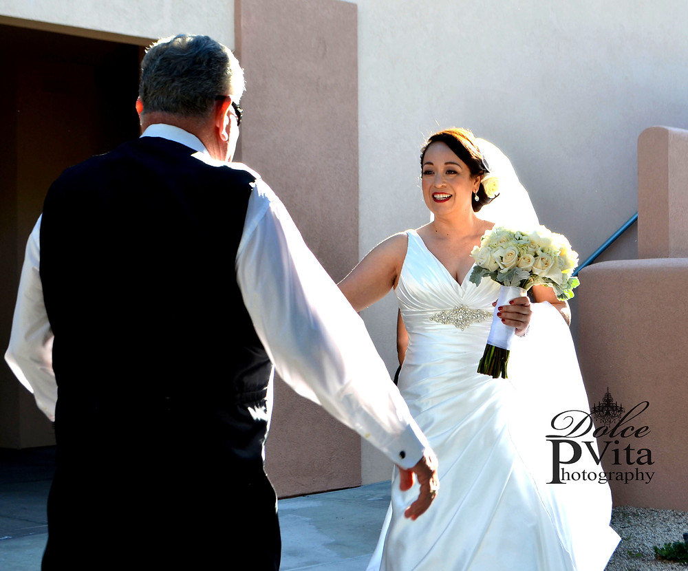 Dolce Vita Events Photography - Father of the Brides First Look moment
