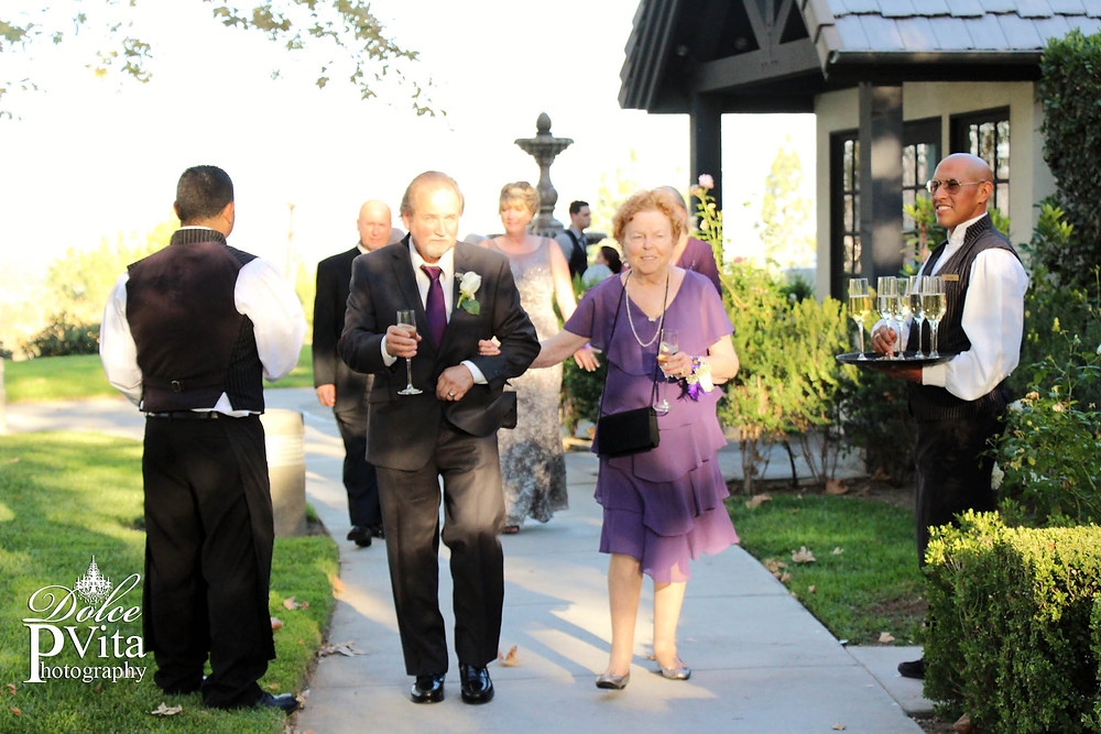 Champagne service personal butlers at Summit House Wedding by Dolce Vita Events