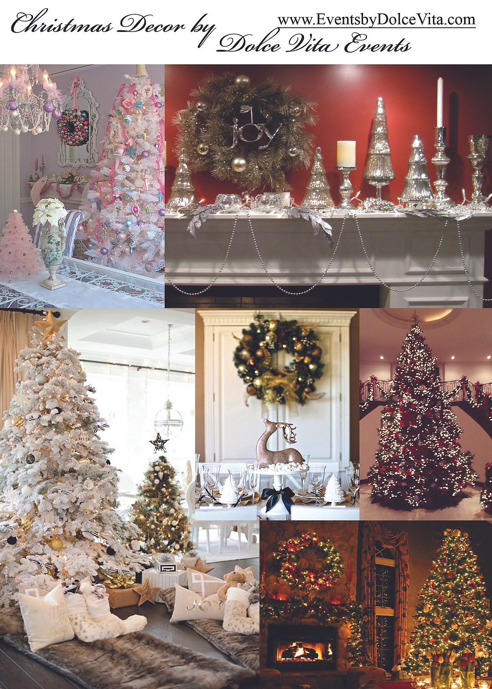 Christmas Decor and design services by Dolce Vita Events