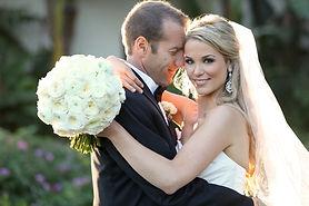 Happy Bride and Groom wedding day