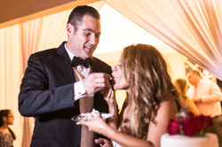 Cake cutting Bride and Groom