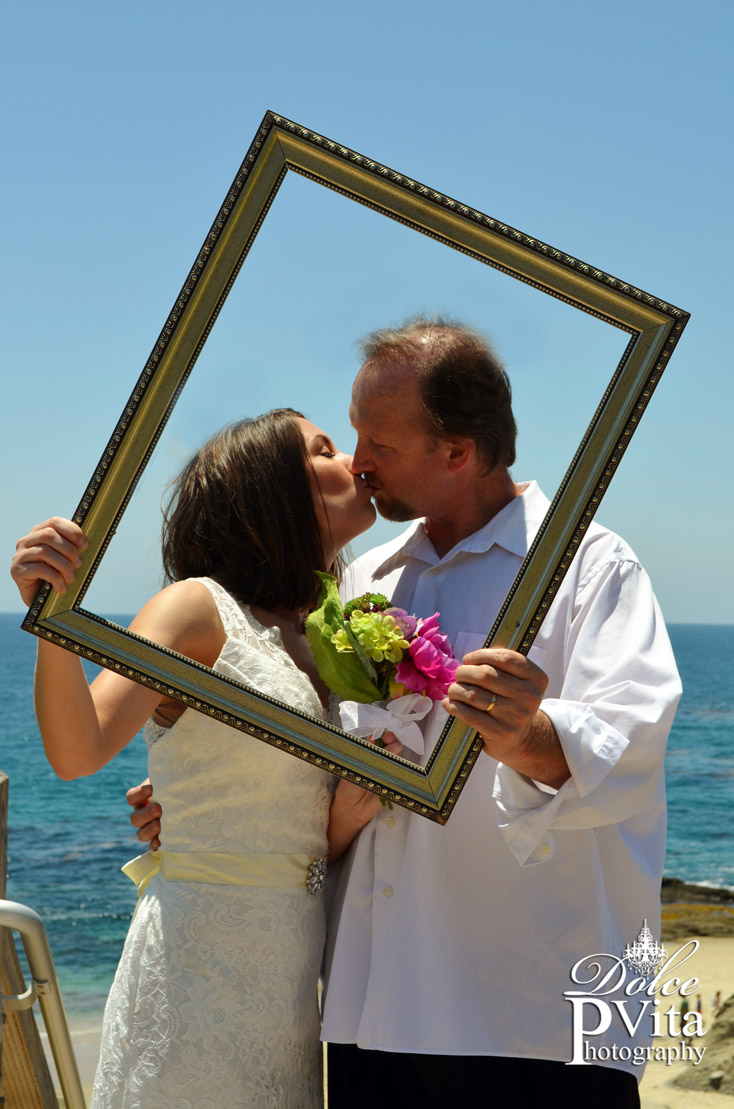 Kiss in Frame Laguna Beach