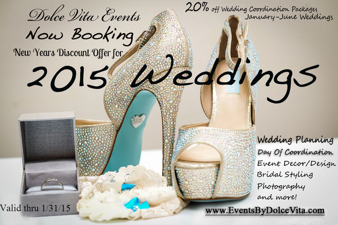 2015 New Years Discount on Wedding and Event Planning Services from Dolce Vita Events