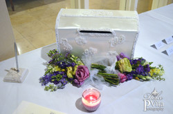 Guestbook table wedding flowers